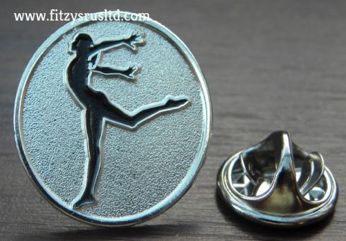 Gymnast Lapel Hat Cap Tie Metal Pin Badge Gymnastique Gymnastics Gift Souvenir